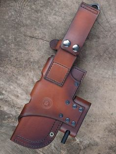 Leather sheath for ESEE knifes