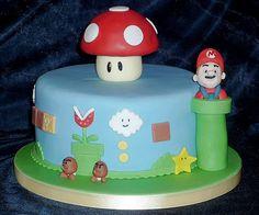 Super Mario birthday cake by EvaRose Cakes