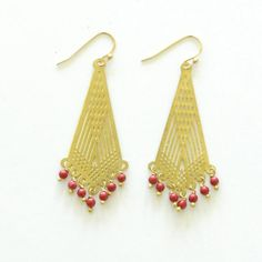 I know who I have in mind for this. Deco dangling earrings from To the Market | affordable gifts supporting women in need