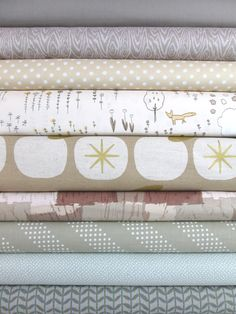 Fabricworm Custom Bundle, Neutral Notion 2.0 in FAT QUARTERS 9 Total