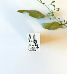 NEW Shima Shima  Bunny Mrs. Fluffy Rubber Stamp by niconecozakkaya on Etsy