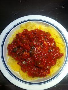 Spaghetti sauce with spaghetti squash