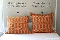 What size pillow insert should I use in my pillow