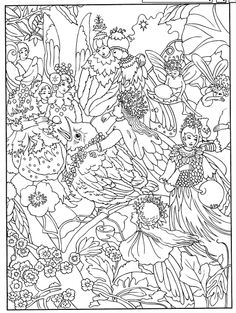color your own victorian fairy painting dover publications