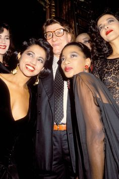 Mounia.  The Martinique-born beauty (pictured lower right) was the first black model Yves Saint Laurent used in his haute couture shows. Photo: Foc Kan, WireImage