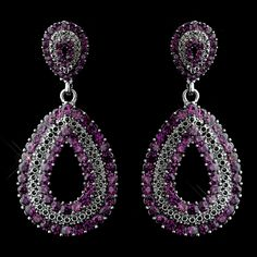 Amethyst Purple Wedding Earrings - a great choice for  bridesmaids at a Fall wedding!