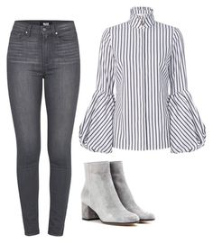 """""""Untitled #592"""" by skittles1324 ❤ liked on Polyvore featuring Paige Denim, Gianvito Rossi and Caroline Constas"""