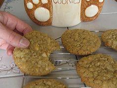 Mrs. Field's Macadamia Nut Cookies w/ oatmeal, coconut, and white chocolate