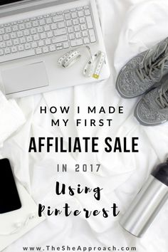 Who knew you could use Pinterest to make sales and earn commissions?  Read my blog post about how I made my first affiliate sale in 2017 by using pinterest.  More tips and tricks about affiliate marketing for bloggers are included and everything else you