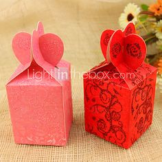 Classic Heart Style Favor Bags - Set of 12 (More Colors) | LightInTheBox