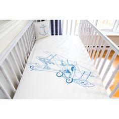 Atelier ëdele Biplane Organic Crib Fitted Sheet
