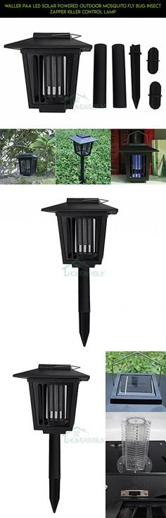 WALLER PAA LED Solar Powered Outdoor Mosquito Fly Bug Insect Zapper Killer Control Lamp #plans #technology #trimmers #drone #kit #tech #racing #shopping #parts #gadgets #products #barber #professional #fpv #camera