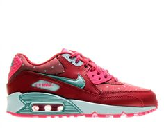 NEW NIKE AIR MAX 90 PRINT Womens 8 (6.5Y) Red PINK POW Classic Running LIMITED #Nike #Athletic