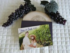 Wine & Chocolate Rustic Vineyard Collection – 'Save Our Date' card created by Above & Beyond – Custom Events & Stationery