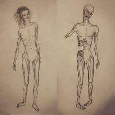 Estudio de #anatomía con #zombies de Estefanía #art #arte #artwork #cubogaleriaadultos2015  #draw #dibujo…