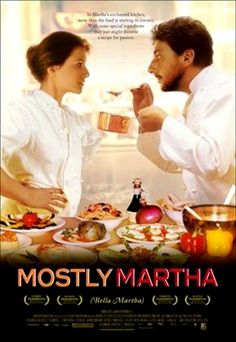 Mostly Martha (original German title: Bella Martha) is a 2001 German romantic comedy drama film written and directed by Sandra Nettelbeck and starring Martina Gedeck, Maxime Foerste, and Sergio Castellitto.Filmed in Hamburg, Germany, and Italy, the film is about a workaholic chef who is forced to adjust to major changes in her personal and professional life that are beyond her control.