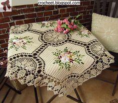 beside crochet: مفارش مطرزة والتشبيك بالكروشية
