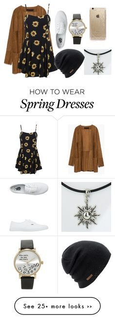 """My Sunflower"" by hurricane-halsey on Polyvore featuring Zara, Vans, Forever 21, Coal and Rifle Paper Co"