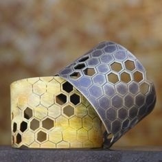 Honeycomb Cuffs by Urban Natures...now available at Julia Vogue!
