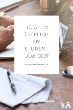 Student loans. Two words that may give you anxiety. Here are some insights from a college graduate on how she handles her student loan debt. #studentloans