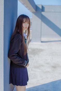 Japanese School Uniform, School Uniform Girls, Girls Uniforms, School Girl Japan, Japan Girl, Foto Real, Beautiful Japanese Girl, Kawaii, Redhead Girl