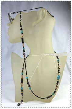 Beaded Jewelry Designs, Handmade Jewelry, Cord Holder, Turquoise Beads, Sunglasses Accessories, Eyeglasses, Chain, Teachers' Day, Handmade Necklaces