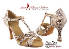 SERA7012 Brown Snake **Also available in Tan Leather, White Snake, & Red Snake** Appledanceshoes.com