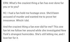 Richard Castle interviewed. That last paragraph though...