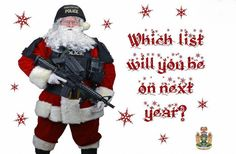 """Canada addressed to the criminal police """"Christmas Card"""" special"""