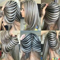 40 gorgeous gray hair styles ideas this year 8 40 gorgeous gray hair styles ideas this year 8 Underlights Hair, Coiffure Hair, Hair Color Techniques, Pinterest Hair, Unique Hairstyles, Hairstyle Ideas, Silver Hair, Hair Highlights, Hair Streaks