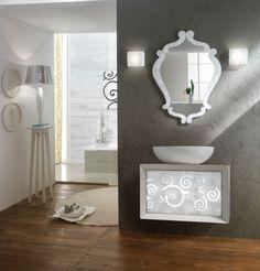 Zrcadlo Diaframma SILVER Flash 94x70 Bathroom Lighting, Mirrors, Silver, Furniture, Home Decor, Bathroom Light Fittings, Bathroom Vanity Lighting, Decoration Home, Room Decor