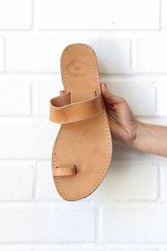 greek toe/single strap sandal