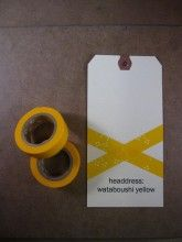 headdress wataboushi yellow masking tape from TOP HAT Masking Tape, Washi Tape, Paper Tape, Rice Paper, Craft Party, Xmas Gifts, Headdress, Wedding Details, Wedding Planner
