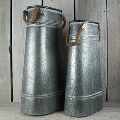 Striking silver zinc churns. Use them as part of your shop or planting display. Great for a pub! http://www.thesatchvillegiftcompany.co.uk/products/new-for-spring-and-summer-2015/containers/me370030.new-zinc-milk-churn