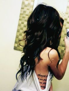 love the hair & the tattoo - Click image to find more Hair & Beauty Pinterest pins