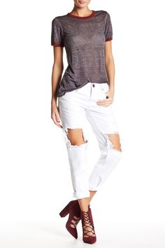 White Beauty Awesome Baggy Jean
