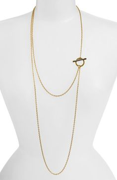 Tory Burch Layered Long Toggle Necklace available at #Nordstrom