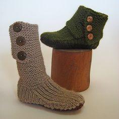 Prairie Boots Pattern - Knit Purl