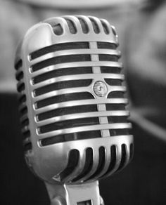 Vintage microphone - Frank Sinatra style.