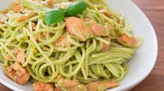 Make this smoked salmon pasta recipe from PBS Food. Basil cream sauce is a lighter substitute for bechamel that doesn't lack in flavor.