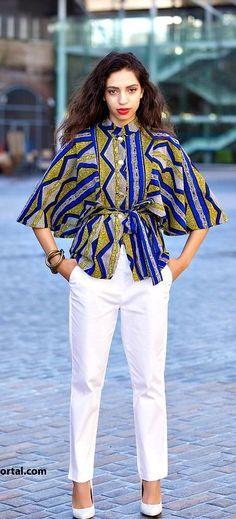 More Beautiful Ankara Tops You Can Sew