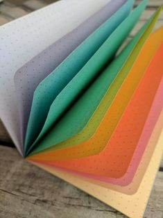 Rainbow Pages, Yellow Paper, Blank Page, Colored Paper, Travelers Notebook, Card Stock, Dots, Paper Crafts, Pastel