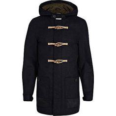 Navy smart duffle jacket £85.00