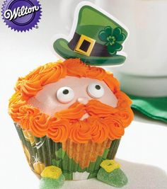 Leprechaun Cupcake Recipe perfect for St. Patrick's Day! A @Wilton Cake Decorating Recipe from Joann.com