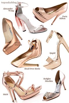 Rose gold shoes-- picking up the h&m pair this weekend