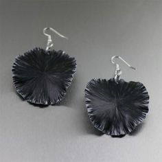 Black Anodized Aluminum Lily Pad Earrings - You're no stranger to style. You know that simplicity always stuns. Show off the technique when you accent outfits with these effortlessly versatile, fun, and fashion forward Black Anodized Aluminum Lily Pad Earrings.