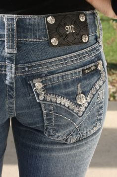 Trimmed in Finery Miss Me Jeans, $99