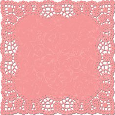 Pink Light Poppy Doily Lace Paper With Die Cut Edges, For Scrapbooking and Paper Crafts, Designed by Karen Russell For Creative Imaginations