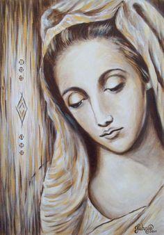 Virgin Mary Painting by Tahnja19 <3