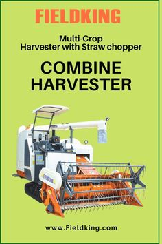 """#Fieldking Multi-Crop Harvester with Straw chopper """"The Most innovative #Harvester for #StrawManagement best suitable for #wetlands and in harvesting variety of #crops"""" #CombineHarvester #harvesterprice #harvestermachine #combineharvestermachine #harvestermachineprice #combineharvesterprice #harvestermachinepriceinIndia #combineharvesterpriceinIndia #minicombineharvesterprice Harvest Corn, Agriculture Machine, Combine Harvester, Chopper, Choppers"""